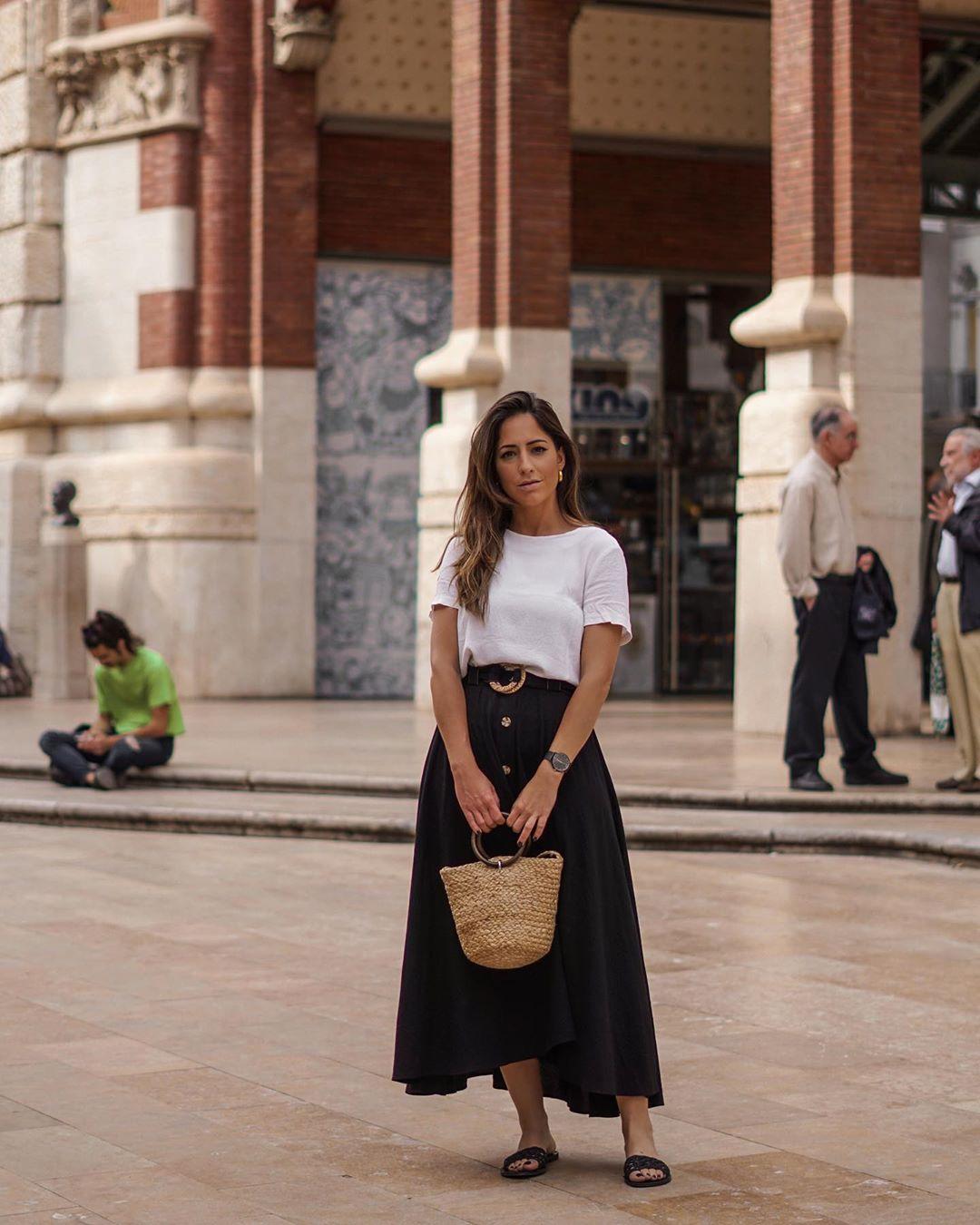 skirt with belt de Zara sur criscalatrava