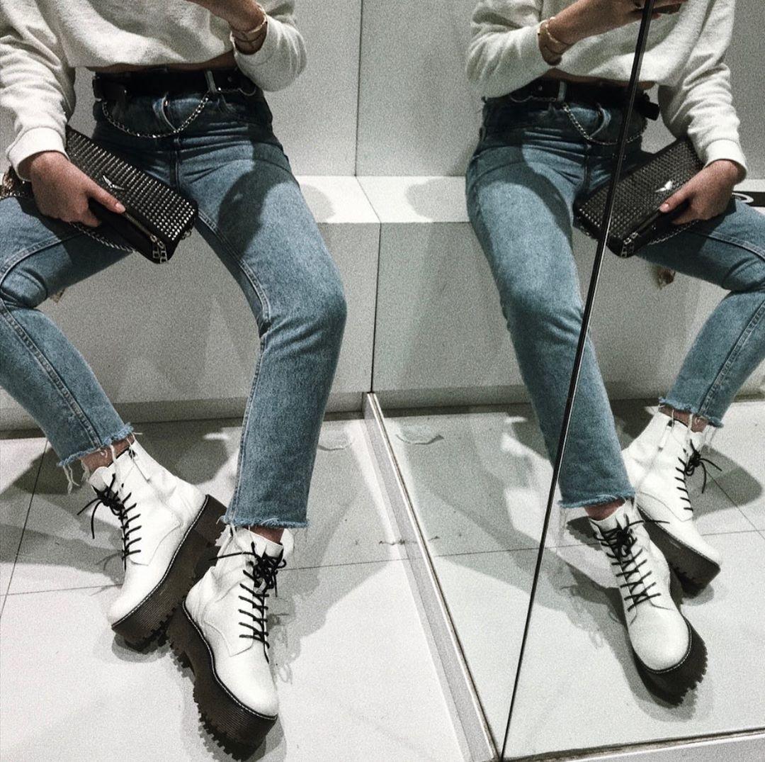 xl platform ankle boots de Bershka sur tokkosil