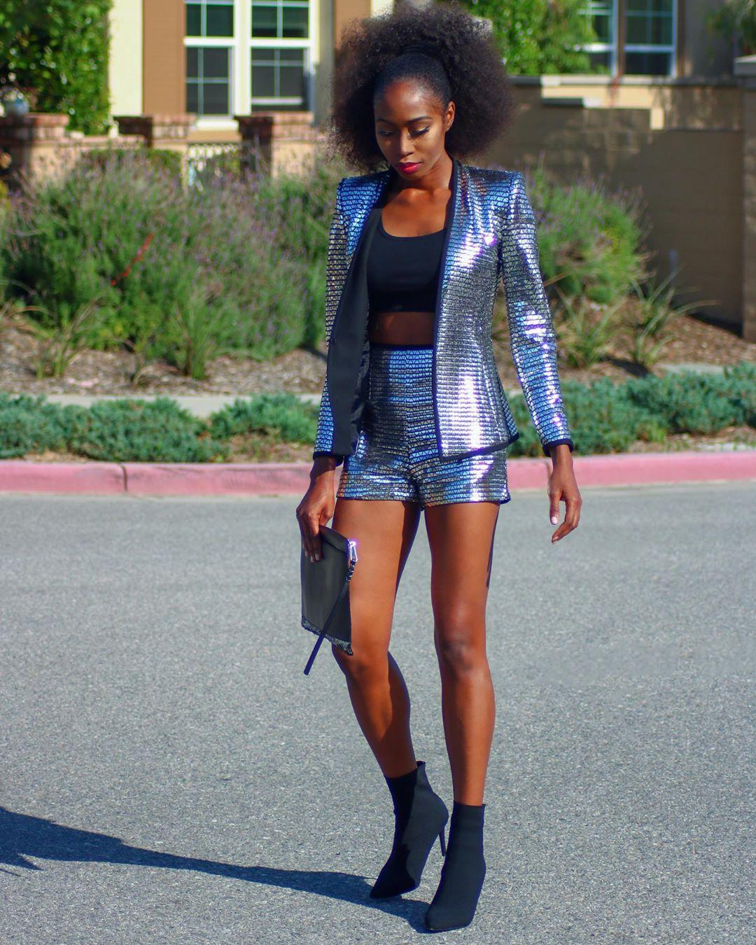 shiny jacket de Zara sur theglamannequin