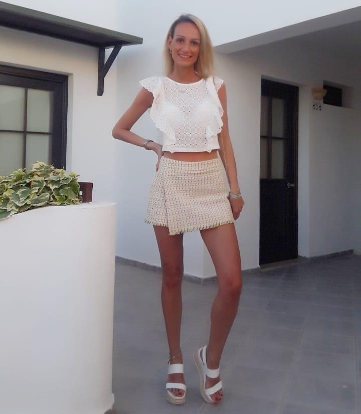 tweed skirt-shorts de Zara sur eliizziimm