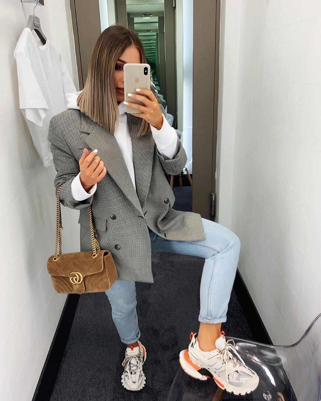 plaid jacket de Zara sur nataliakurda