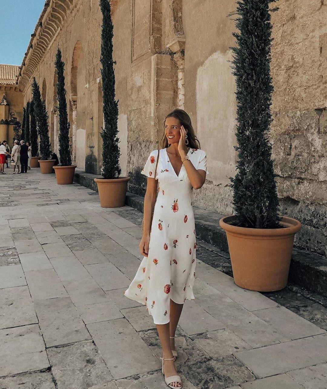 printed dress de Zara sur zaraaddiction