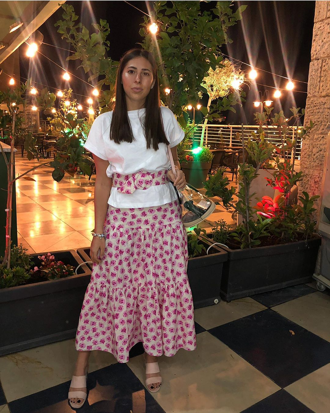 printed skirt with belt de Zara sur shiri_bleich