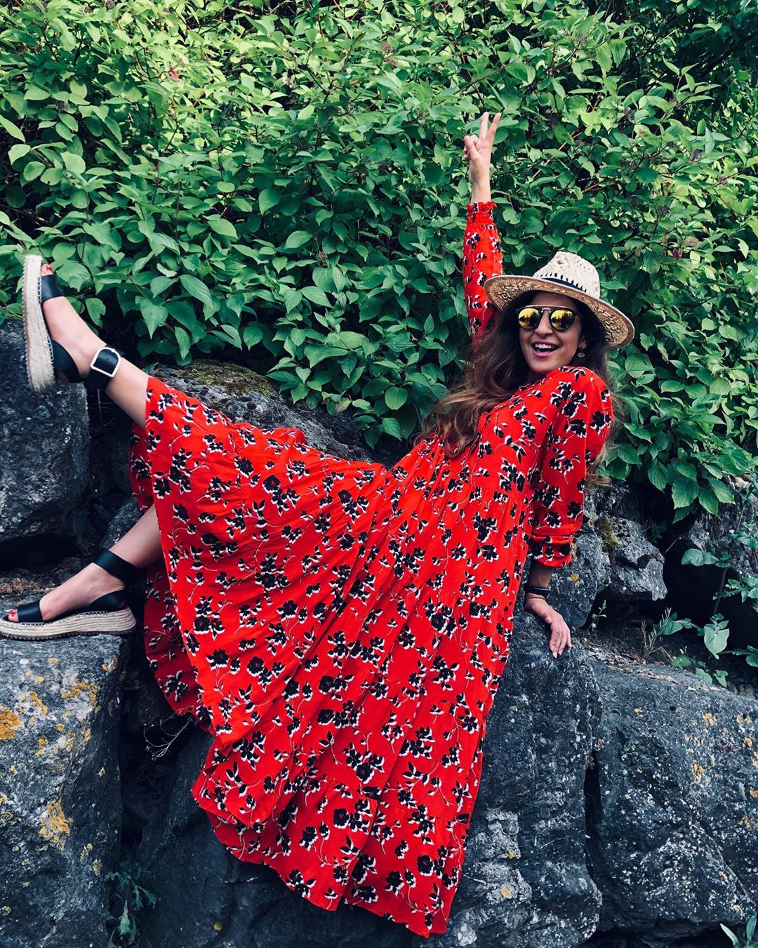 robe à imprimé fleuri de Zara sur oihibasrf