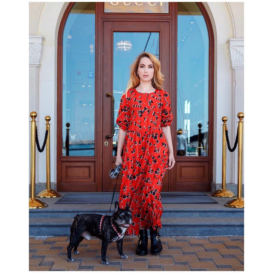 robe à imprimé fleuri de Zara sur tata_and_ko