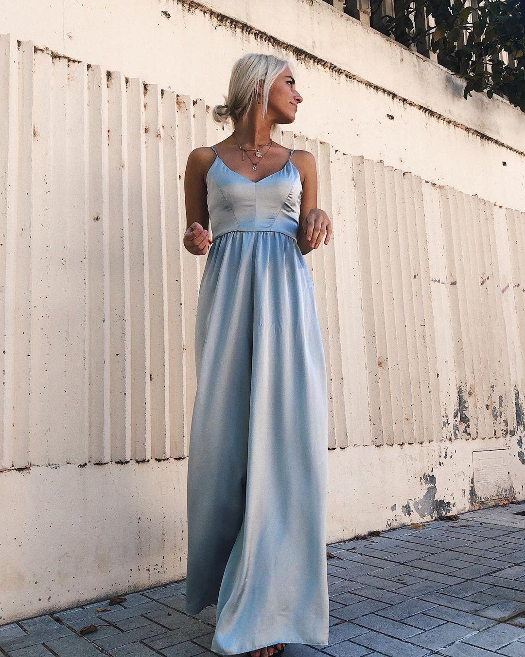 limited edition satin long jumpsuit de Zara sur sorayagprieto