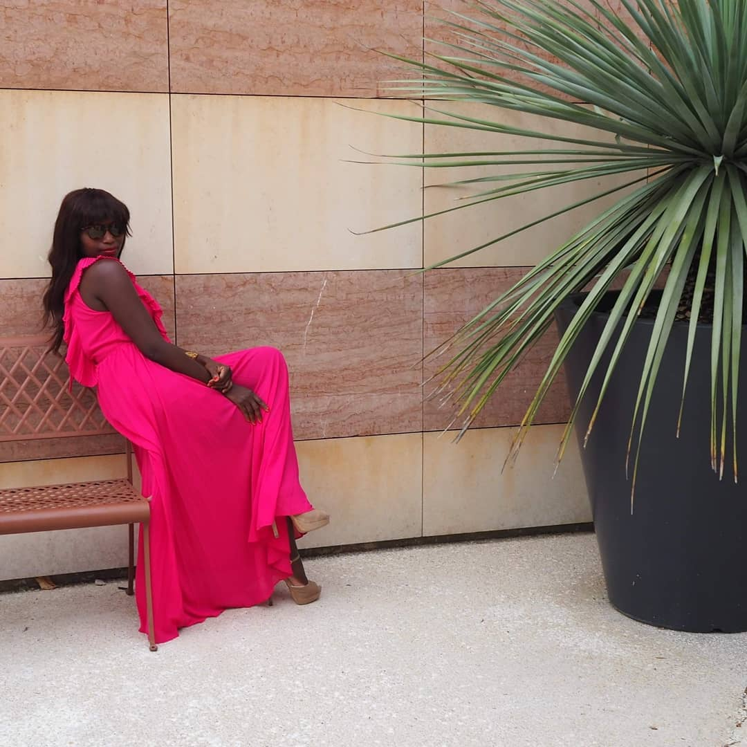 pleated dress de Zara sur gasymarigny