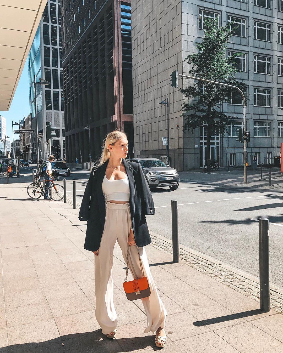 flowing wide pants de Zara sur pia.frei