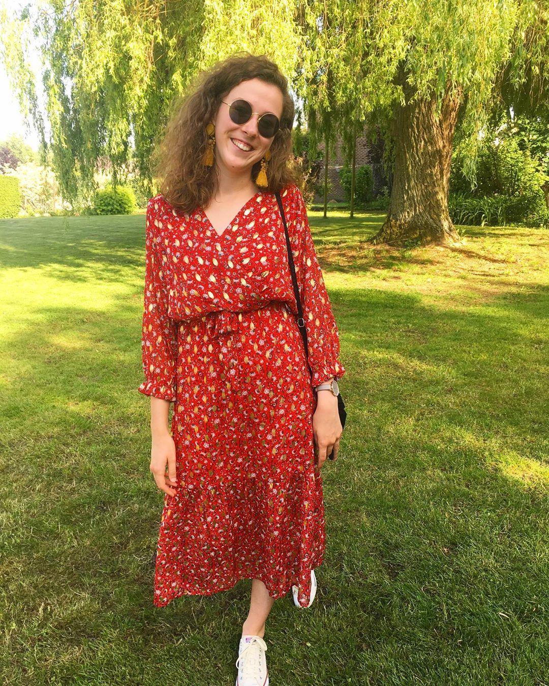 red floral/gold dress de Les Bourgeoises sur odiledelw