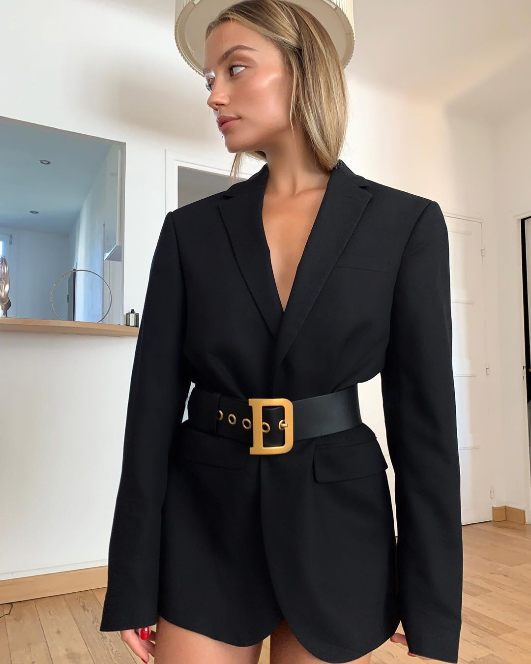 veste oversize à bouton de Zara sur chloebbbb