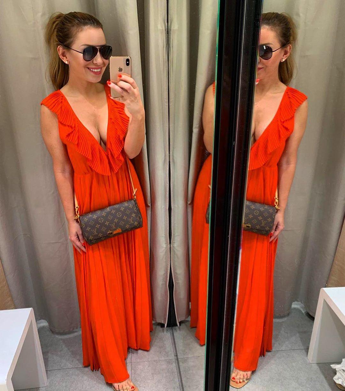 robe plissée de Zara sur mi.ch.a.e.lla_