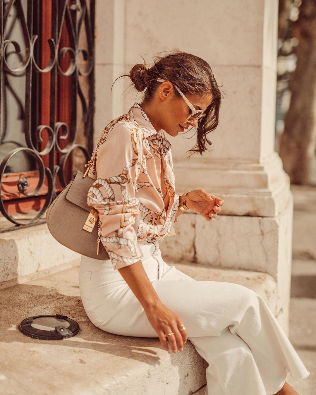bow print shirt de Zara sur jessiekass