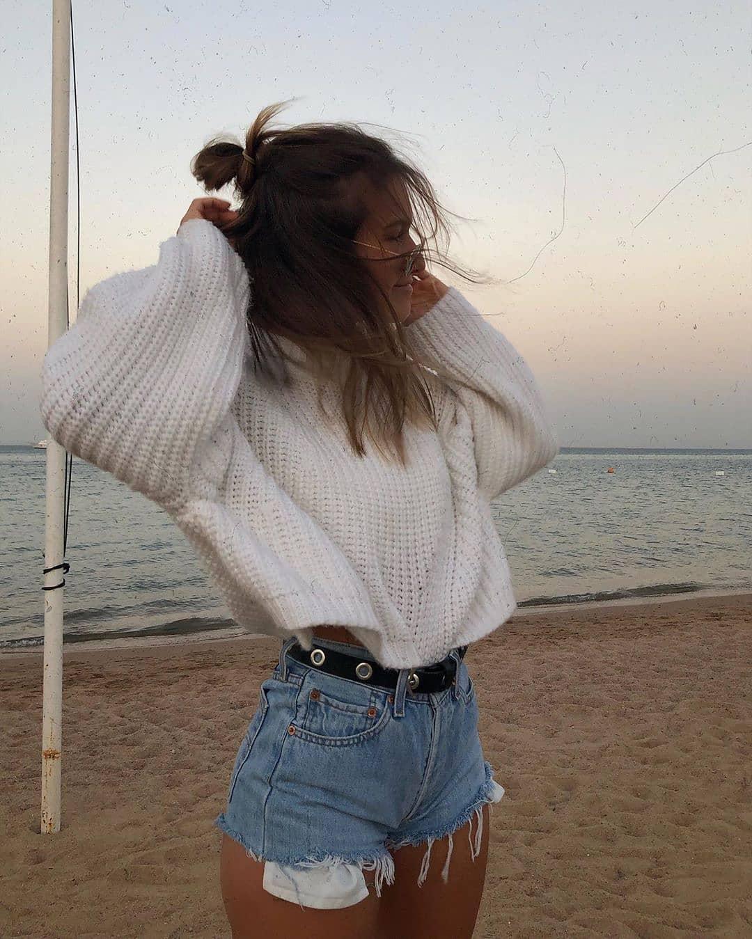 short levis 501 jeans bleu clair tirettes côtés  de Les Bourgeoises sur fashionpossessions