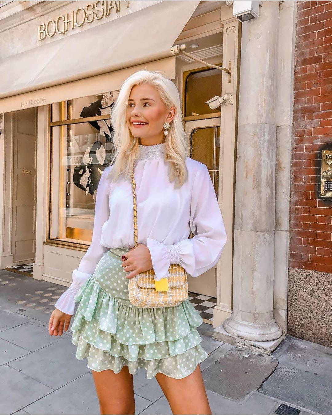 polka dot jacquard skirts de Zara sur zara_yourstyleroom