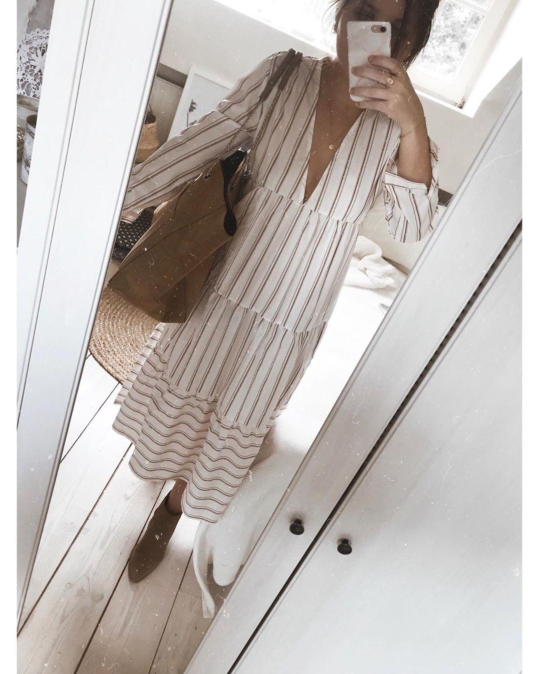 robe imprimée rayures de Zara sur joyeuseapolline
