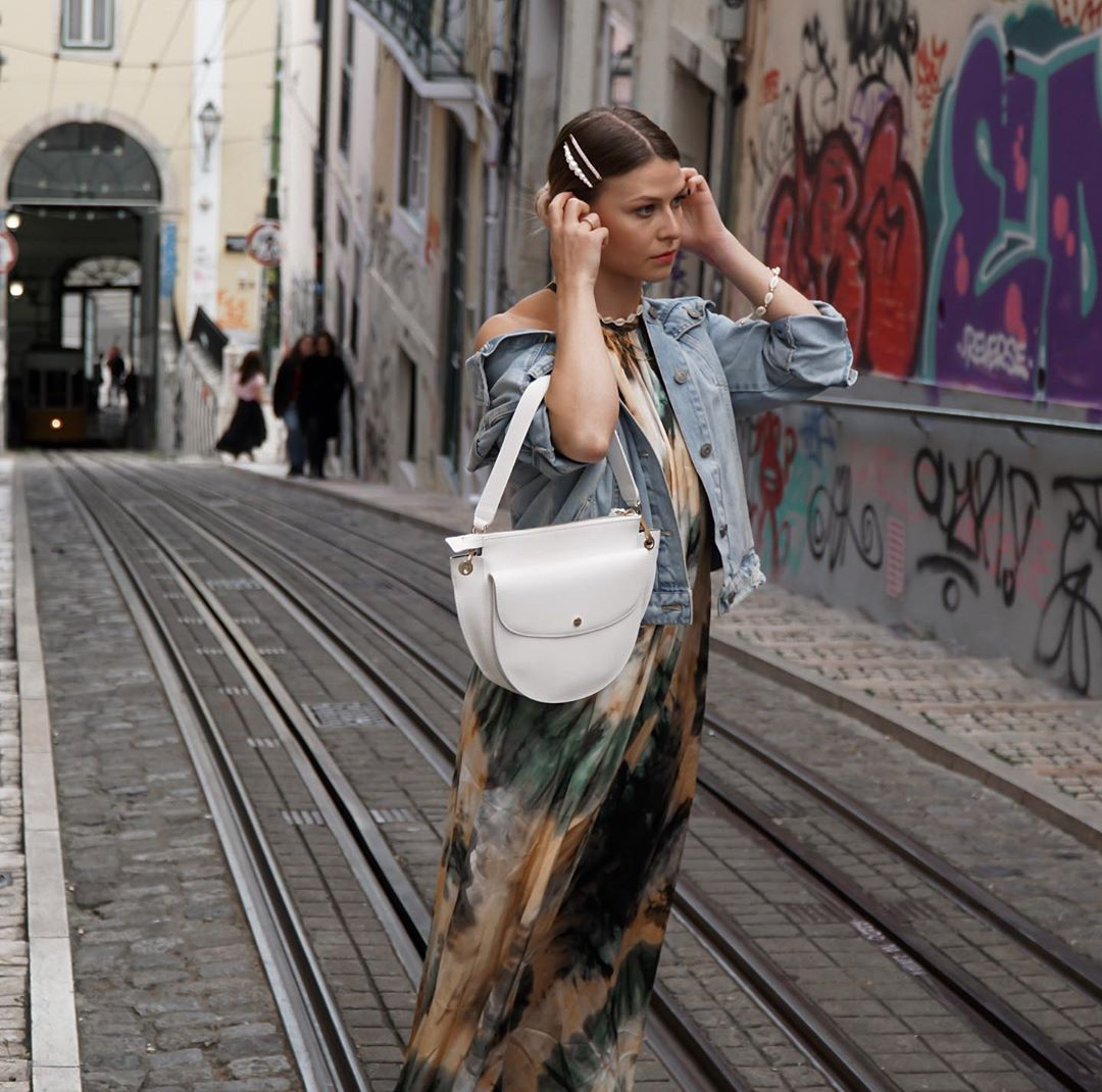 tie & dye print dress de Zara sur itsnadine_sn