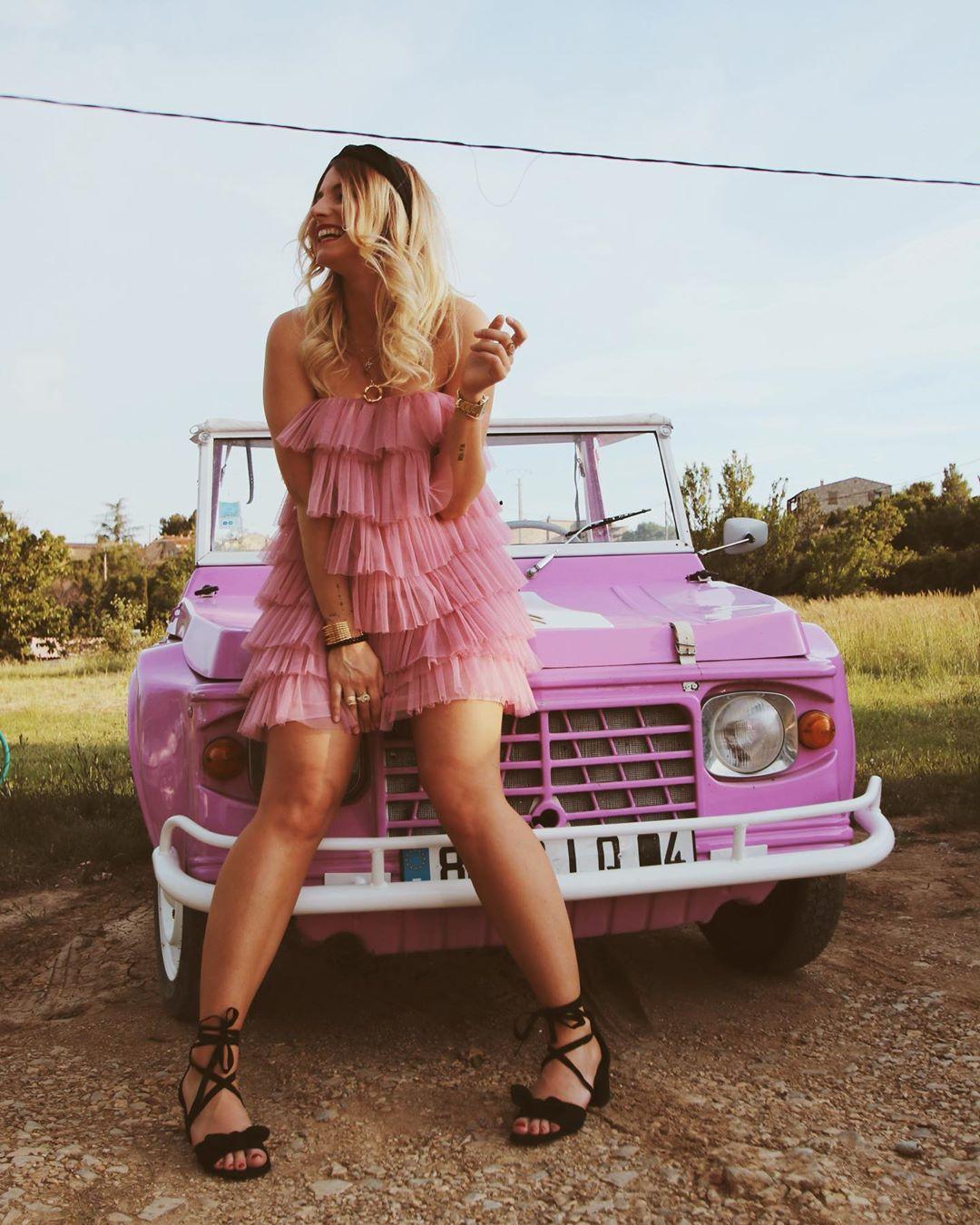 robe en tulle à volants édition limitée de Zara sur opheliepoppie