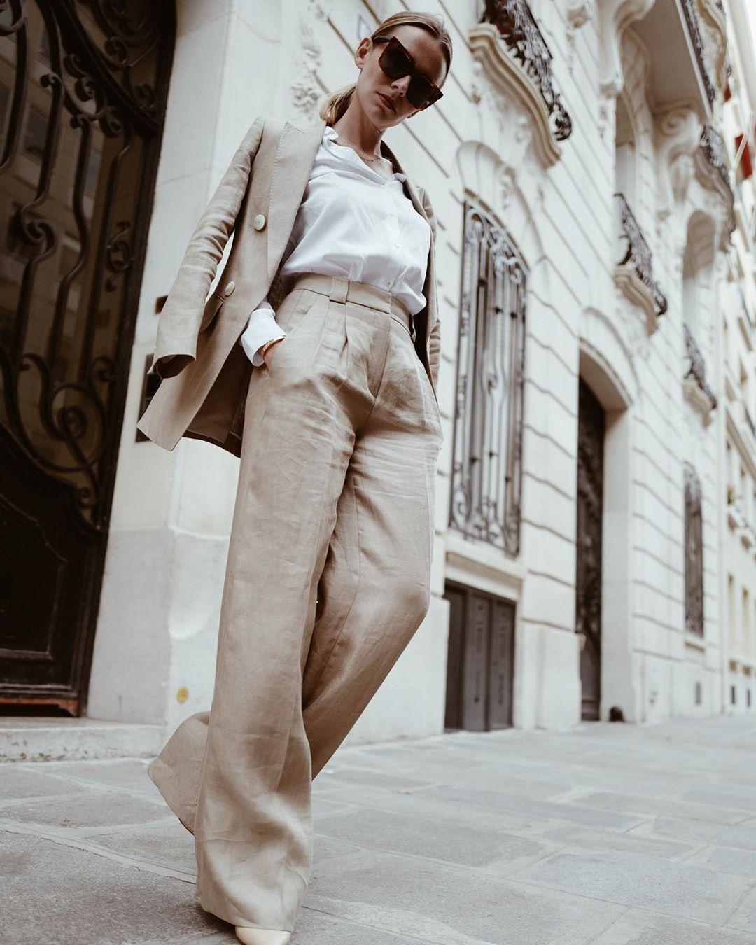 veste croisée en pur lin cintrée limited edition de Massimo Dutti sur manondurst