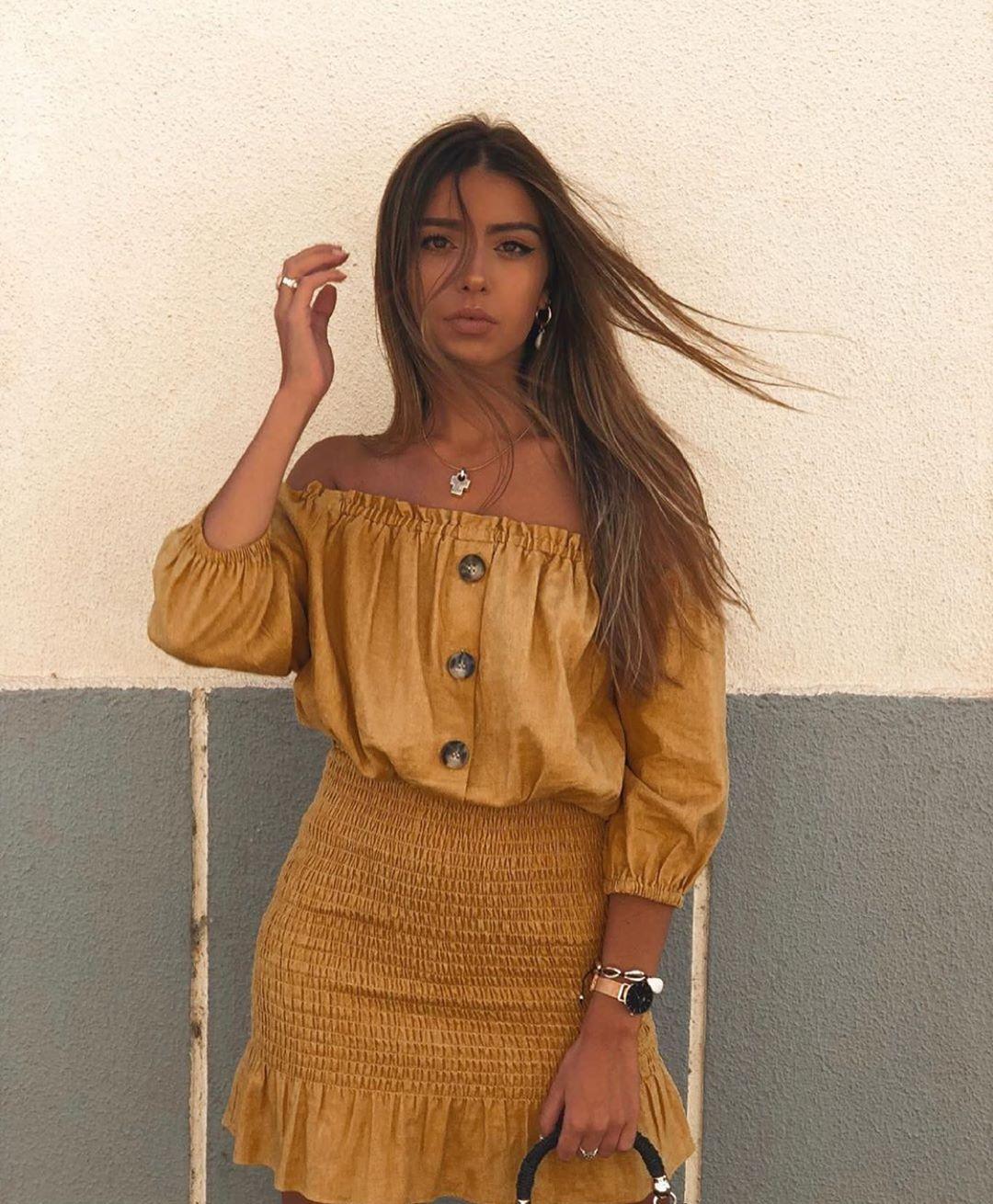 robe effet brut de Zara sur zara.outfits