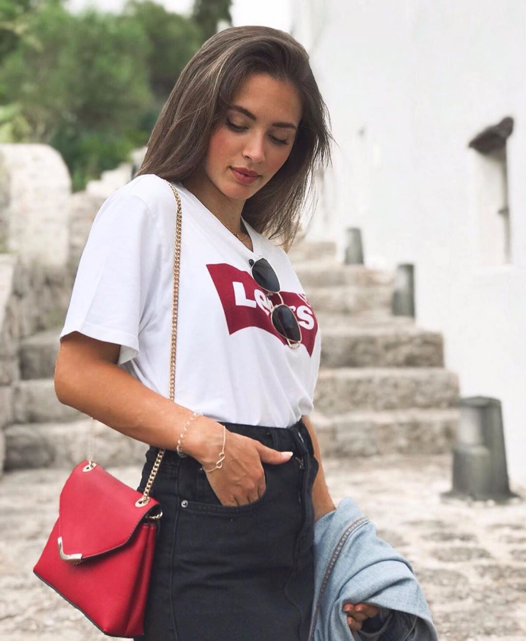t-shirt levis blanc de Les Bourgeoises sur zaraaddiction