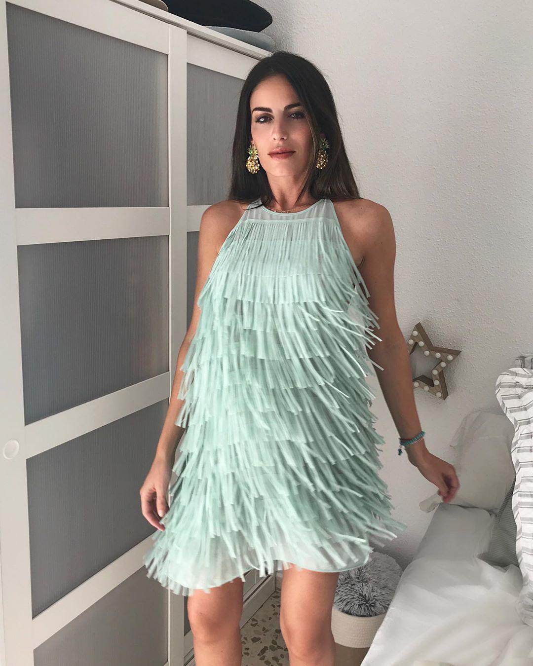 fringed short dress de Zara sur martinamerablog