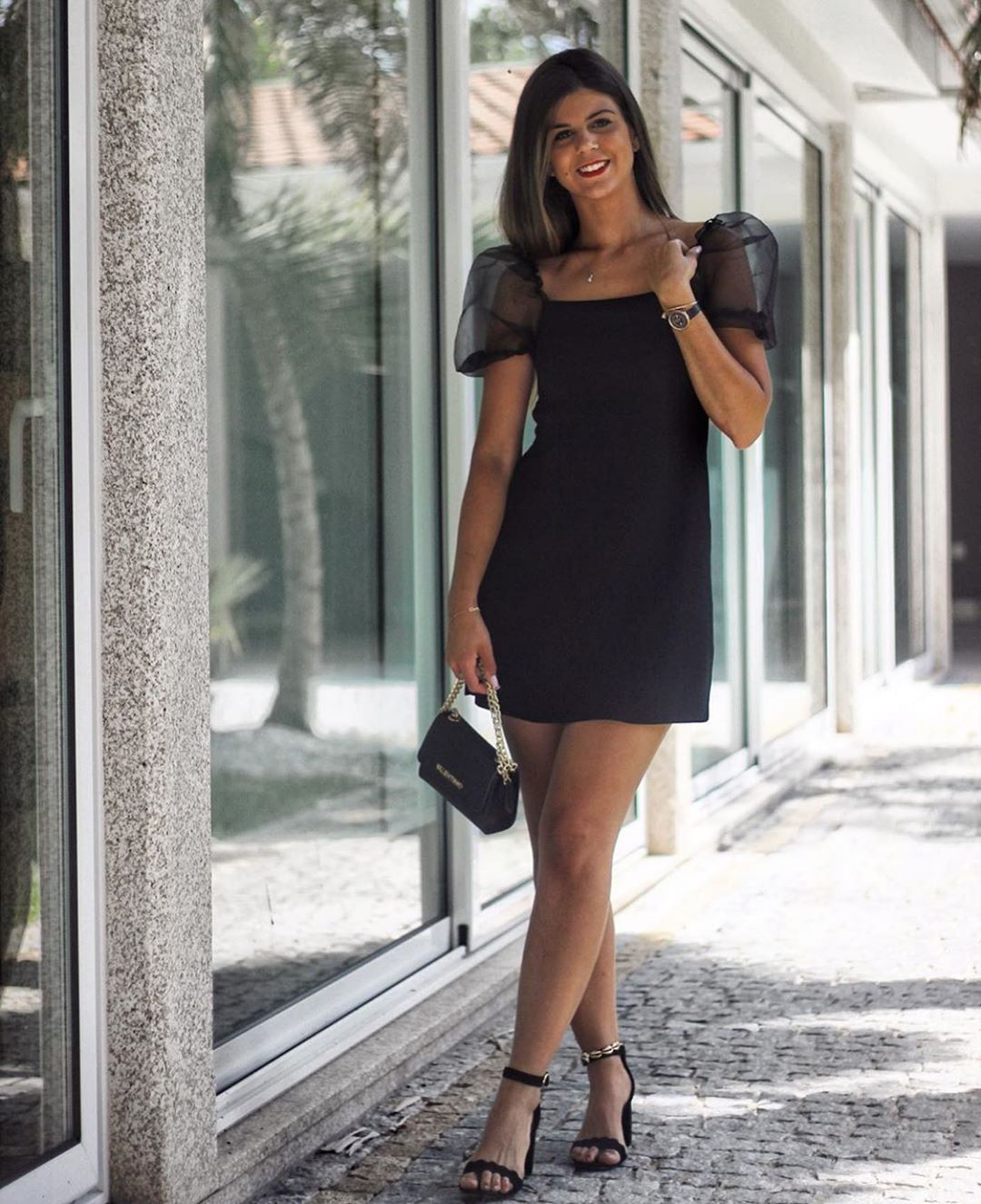 robe en maille à manches bouffantes de Zara sur zara.outfits