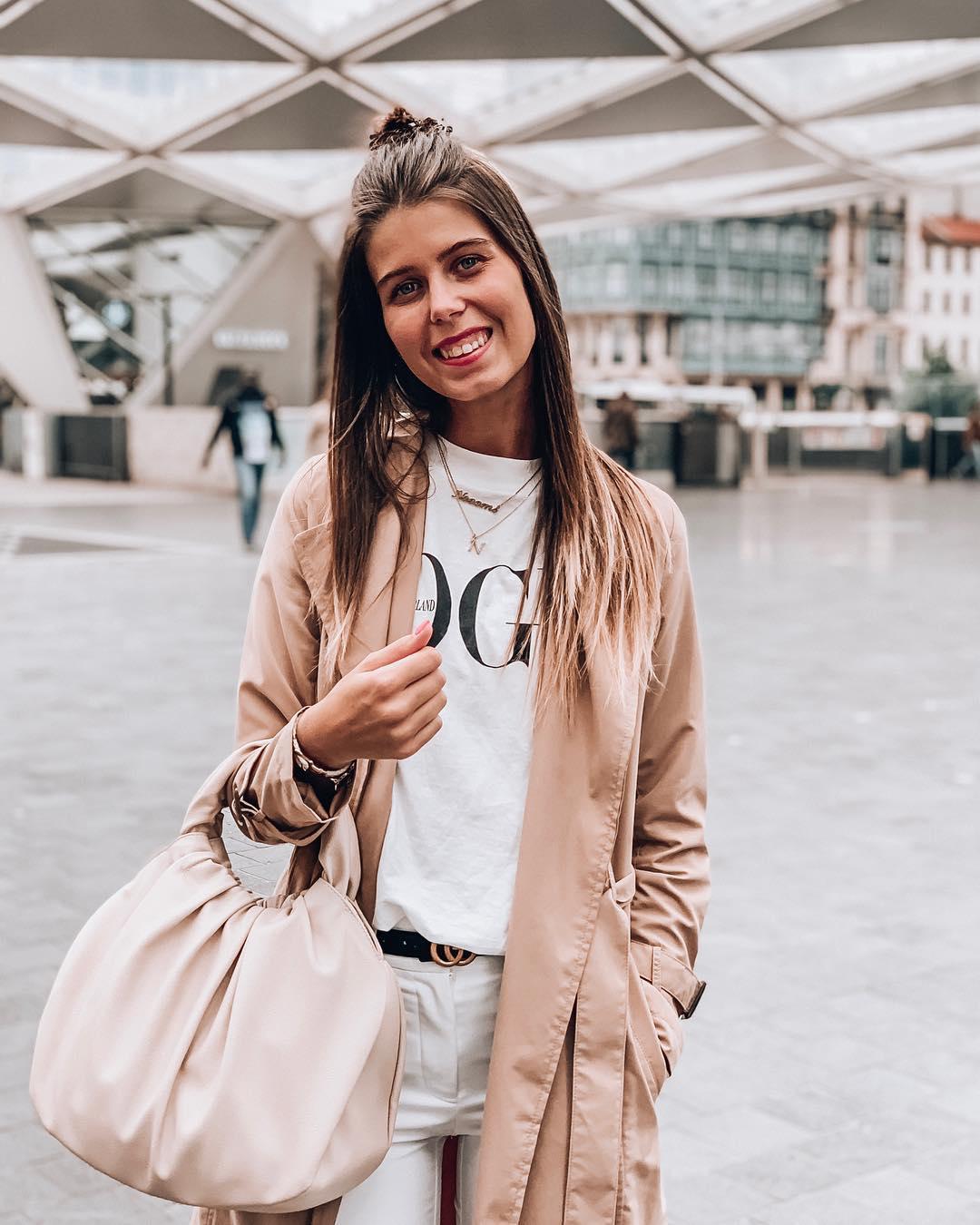 button trench coat de Zara sur nooomsworld