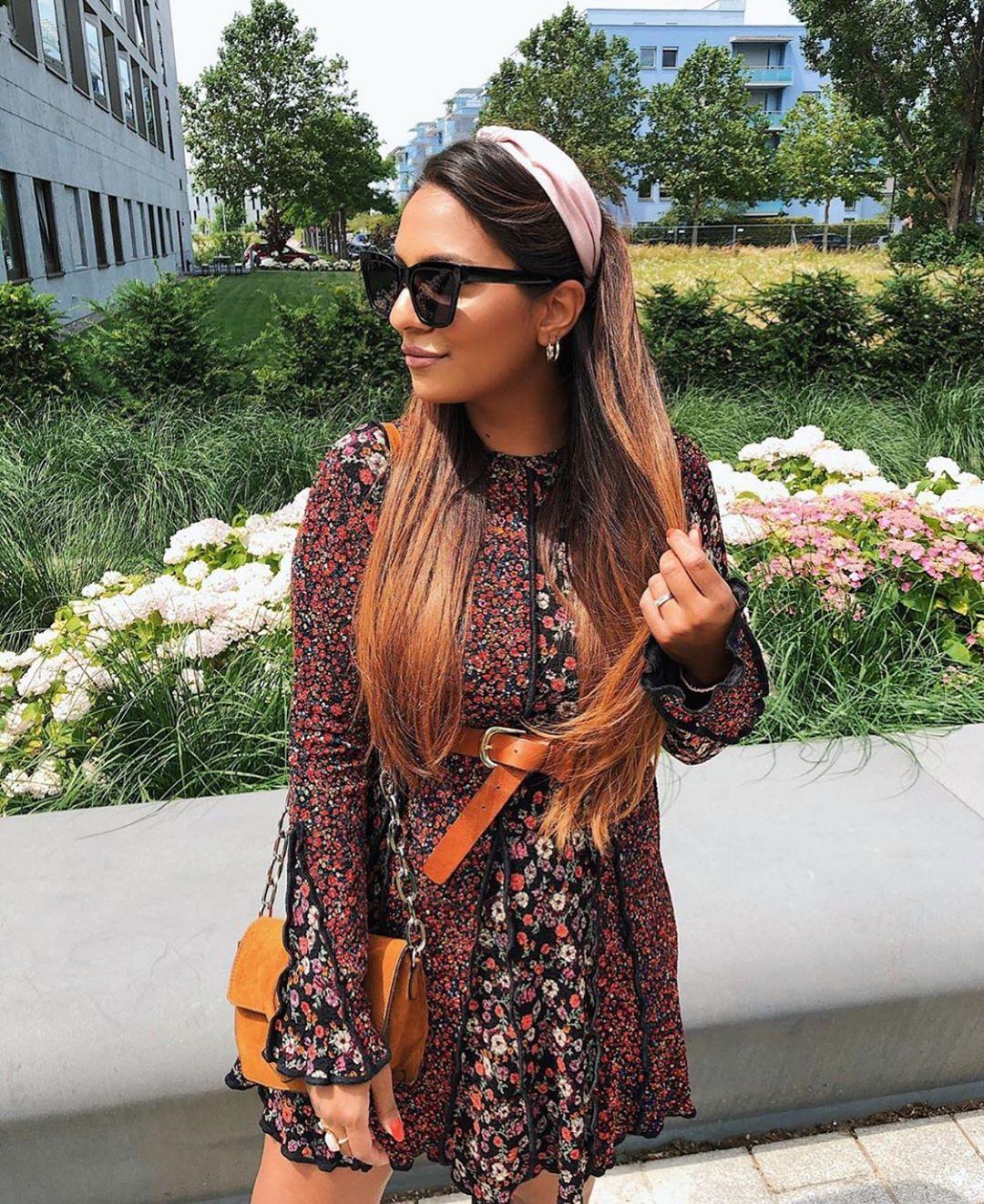 robe patchwork à imprimé floral de Zara sur zara.outfits