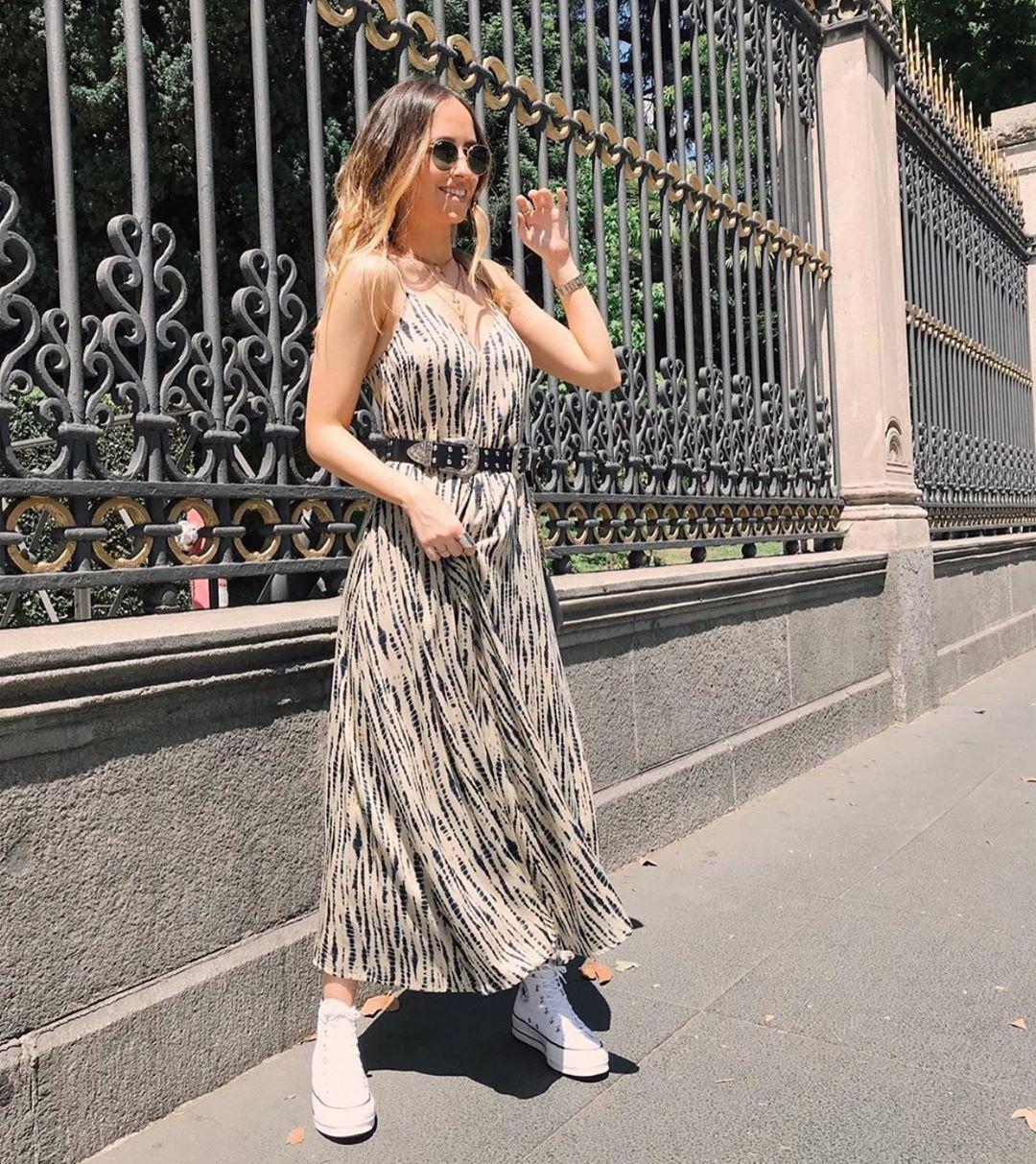 tie & dye dress de Zara sur zaraaddiction