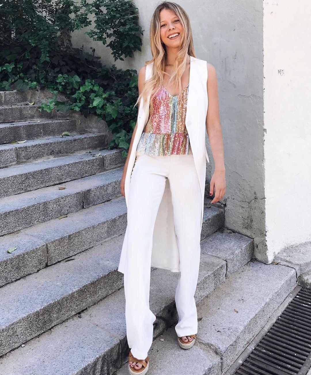 glitter top de Zara sur zaraaddiction