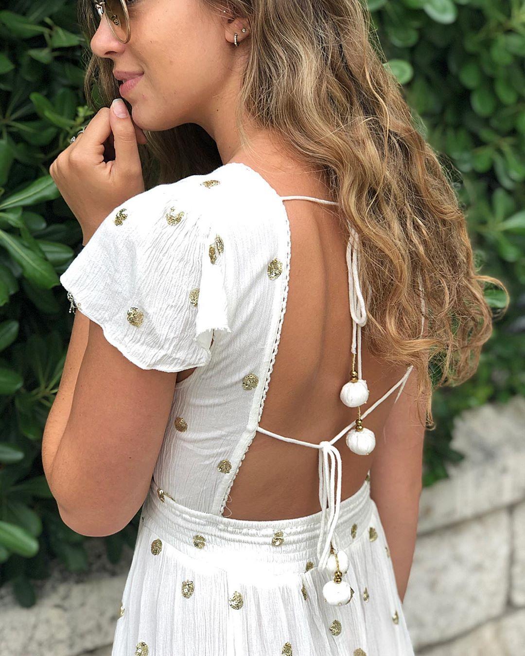 robe blanche fleurs/or de Les Bourgeoises sur urbandressing
