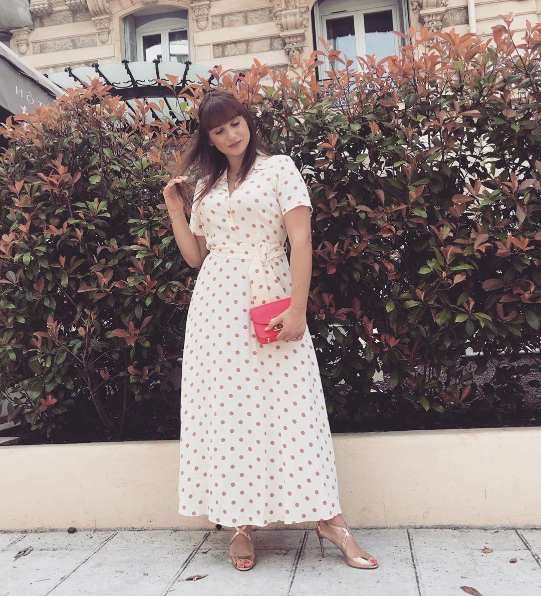 polka dots long dress de Zara sur stelisa_b