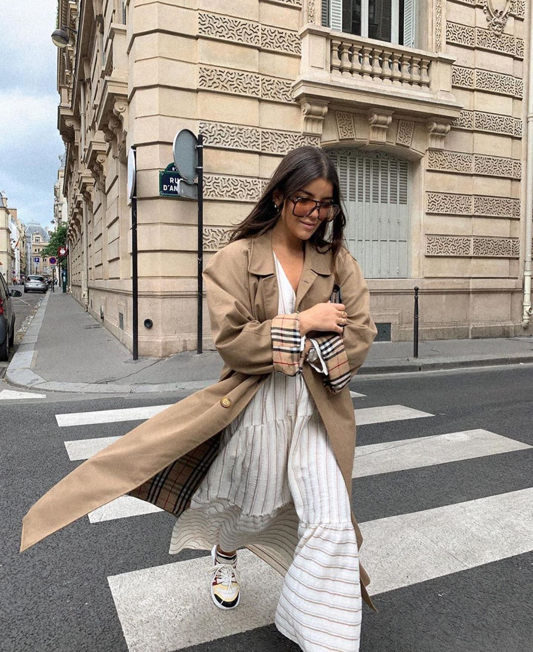 striped print dress de Zara sur zaraaddiction