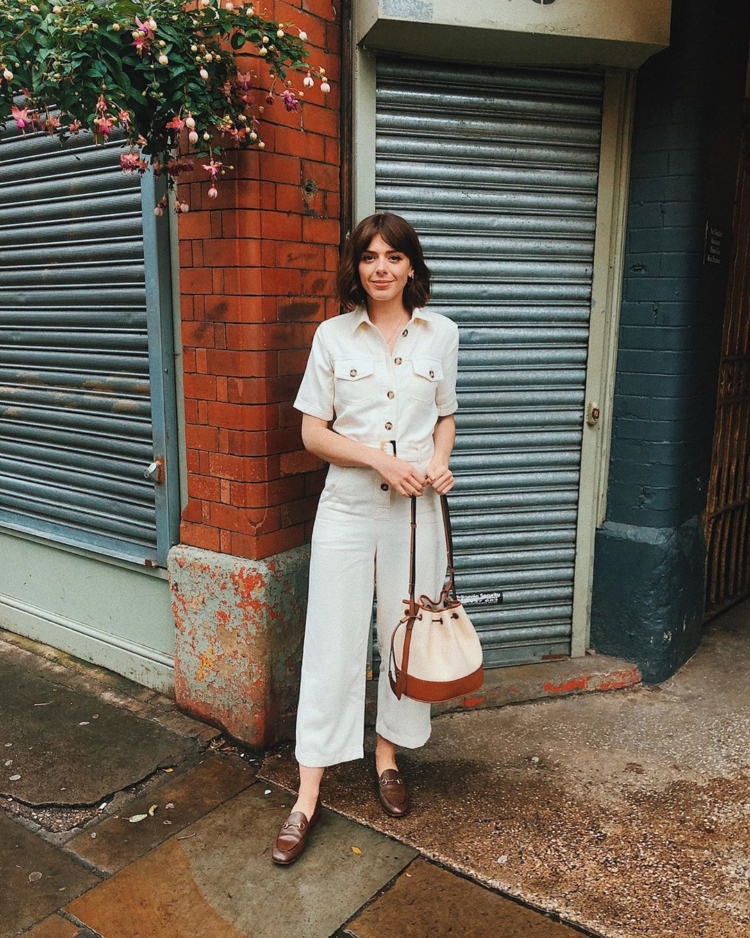 cotton jumpsuit with stitching and belt de Massimo Dutti sur sophia_rosemary