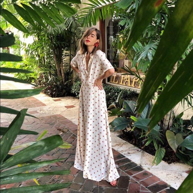 robe longue à pois de Zara sur dailydressedit