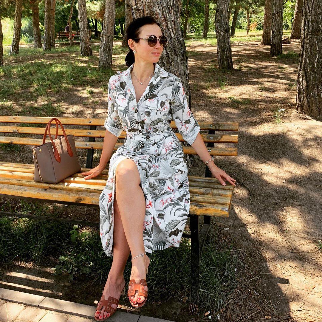 floral print cotton shirt dress de Massimo Dutti sur tet_travels