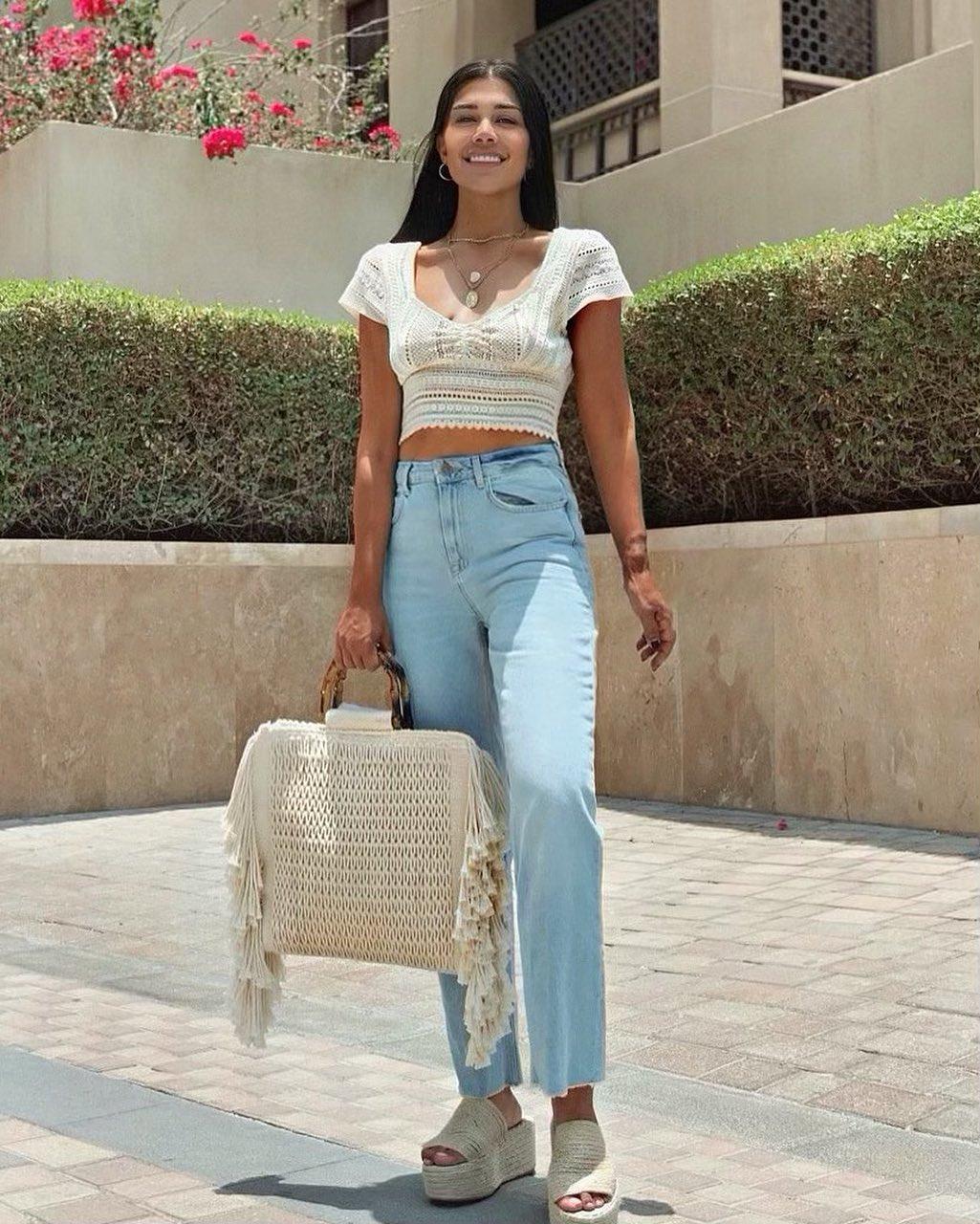 fringed canvas shopper bag de Zara sur sandraikladious