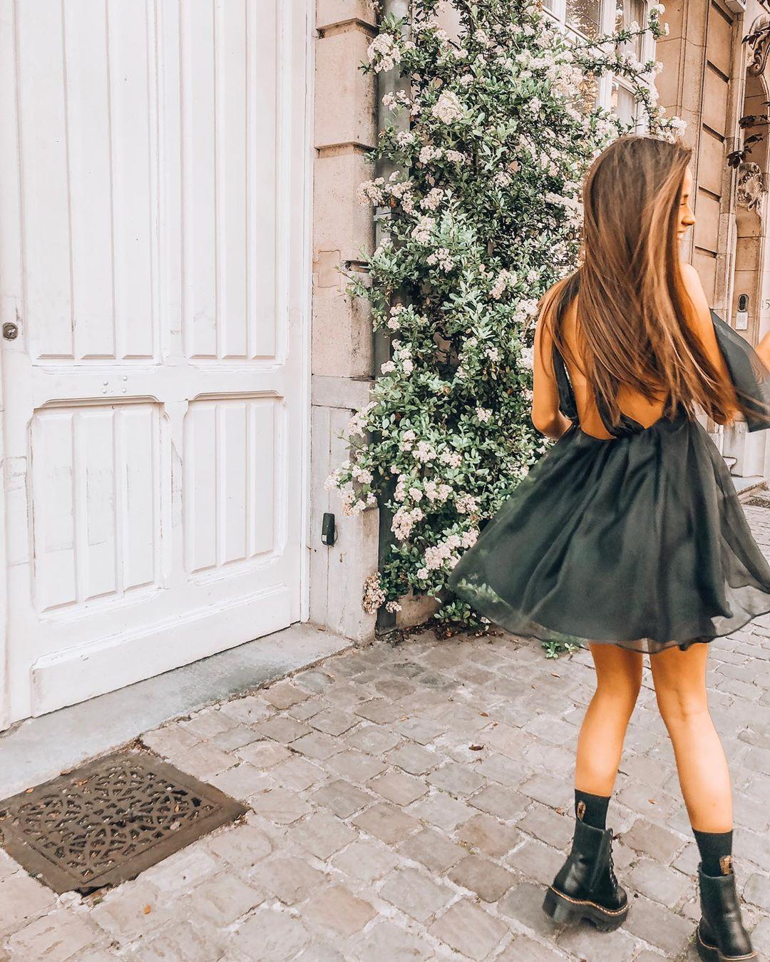 robe courte en organza de Zara sur sachabaleriaux