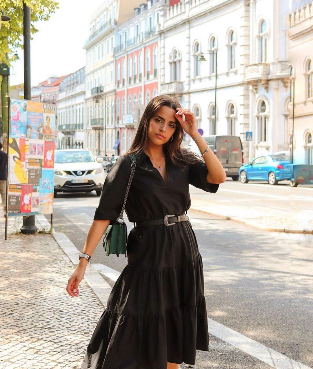 robe en popeline avec ceinture de Zara sur zara.outfits