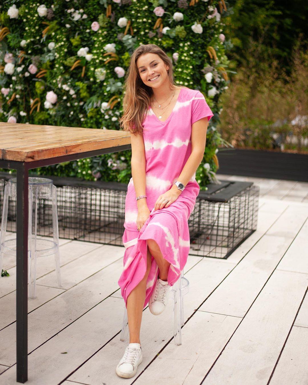 longue robe rose tie&dye de Les Bourgeoises sur lesbourgeoisesofficiel