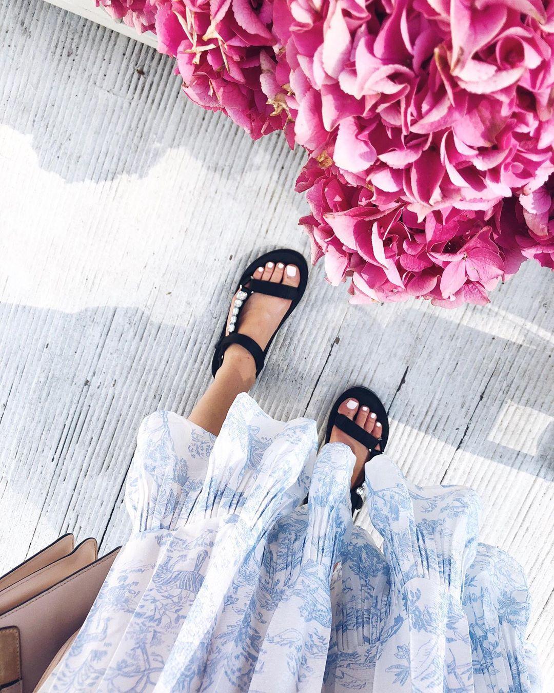 jewel flat sandals de Zara sur delfinashopping
