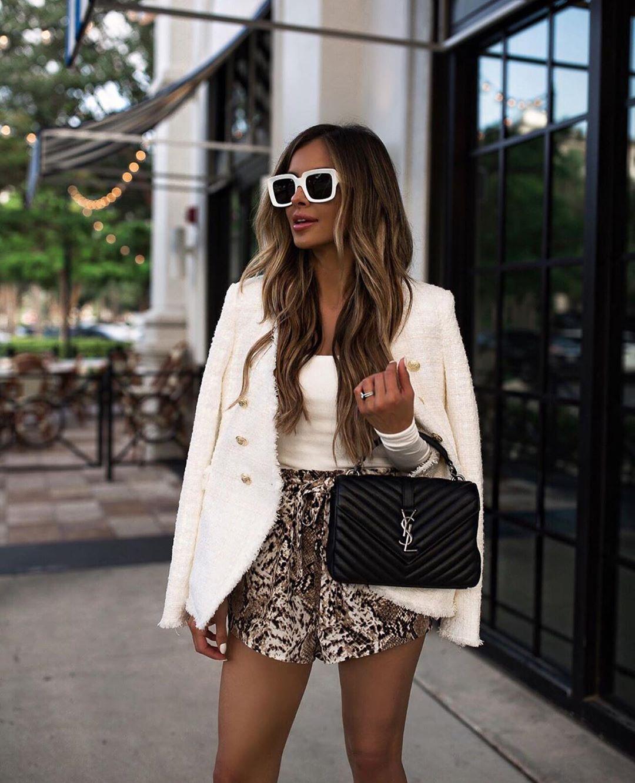 tweed jacket de Zara sur zarastreetstyle