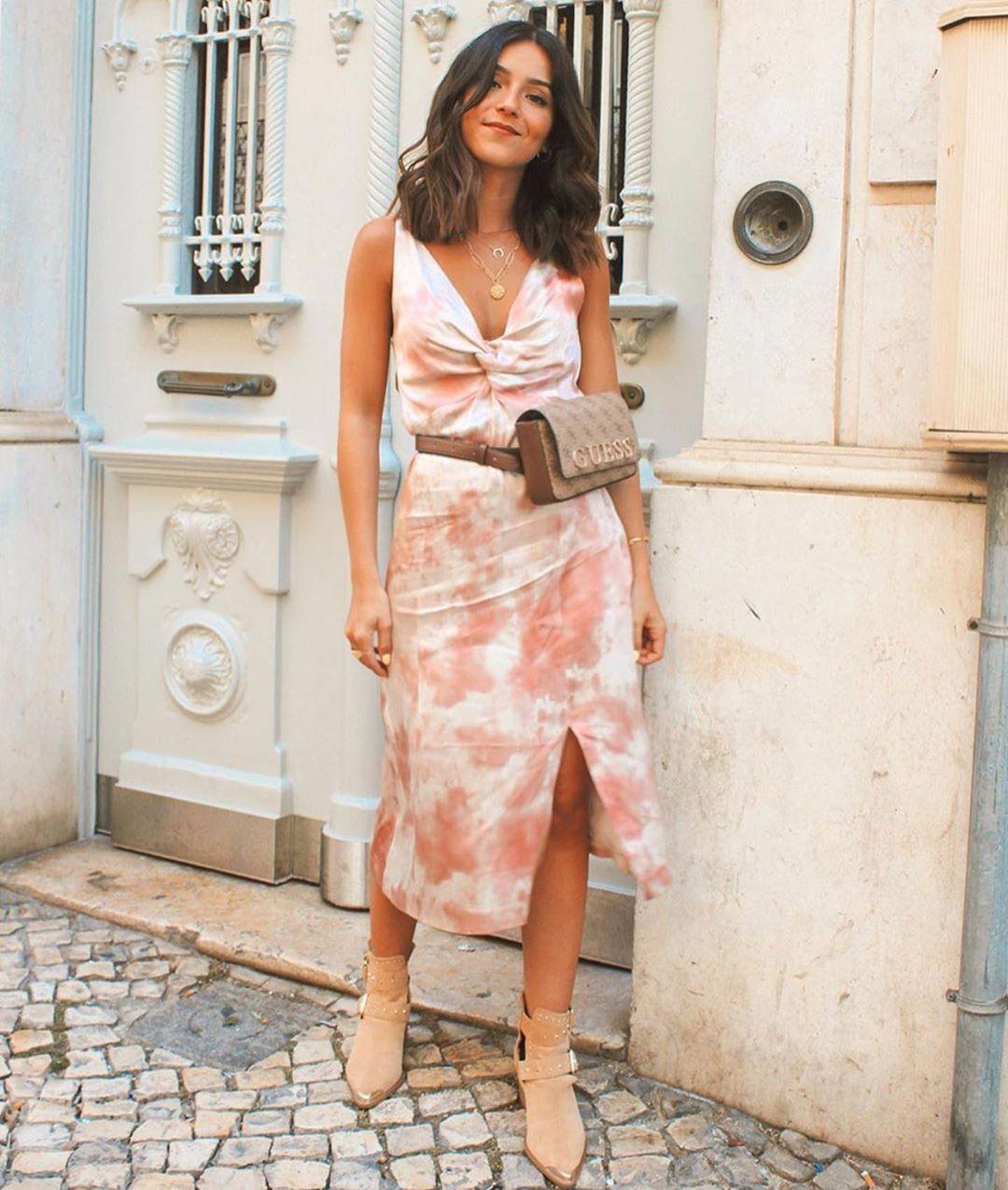 tie-dye dress de Zara sur zaraaddiction