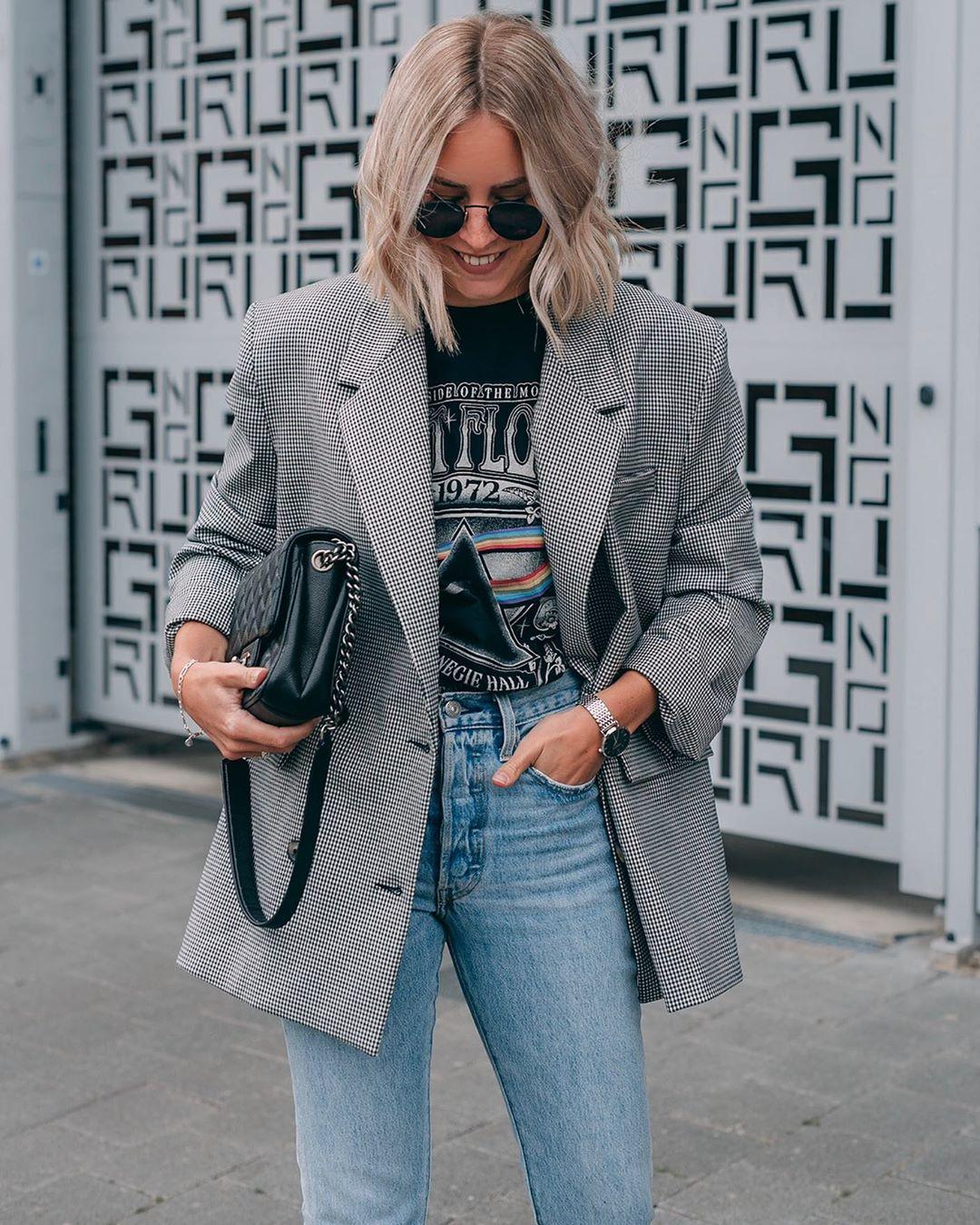 veste à carreaux de Zara sur liangalliard