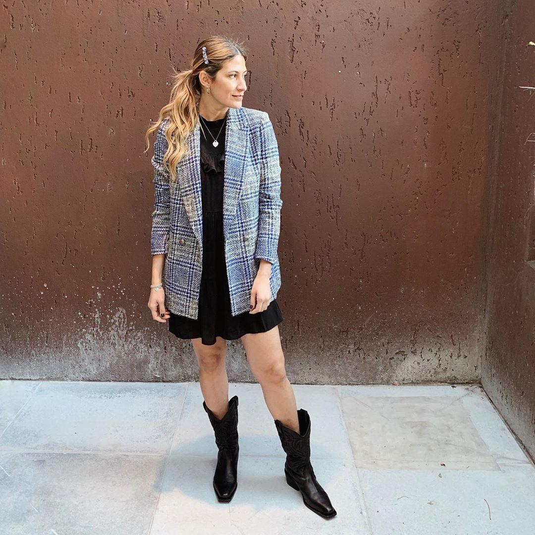 plaid cross breasted jacket de Zara sur teffkazeliandiez
