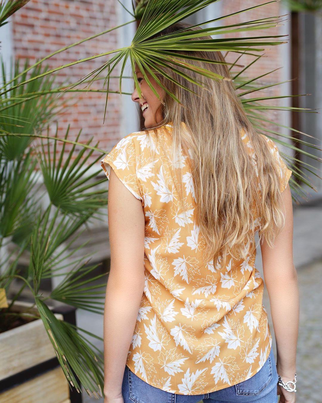 blouse ocre anna de Les Bourgeoises sur lesbourgeoisesofficiel