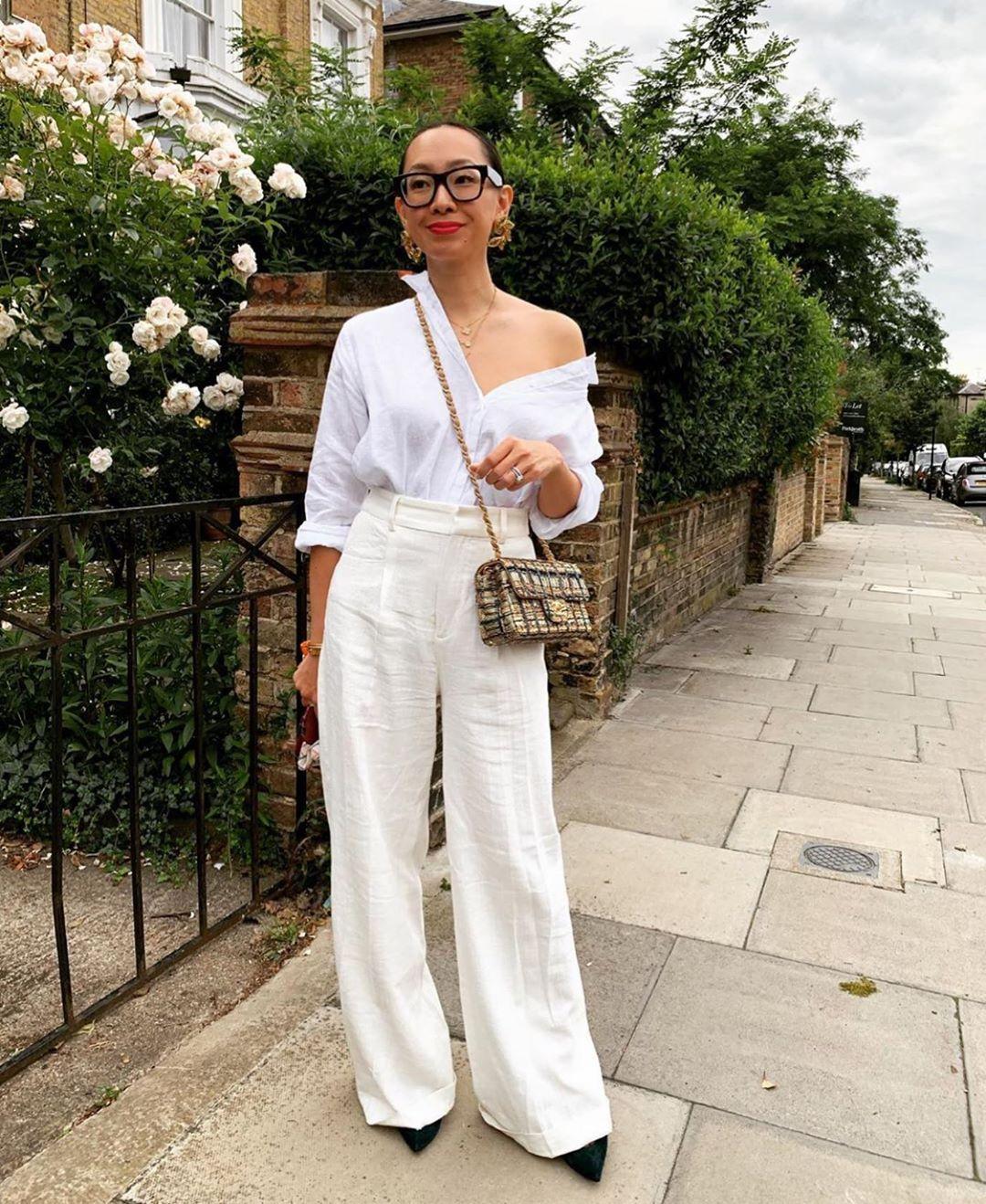 pantalon large en lin de Zara sur zara.mania