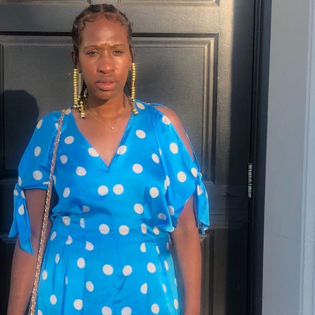 polka dot bow dress de Zara sur marcia.reid__