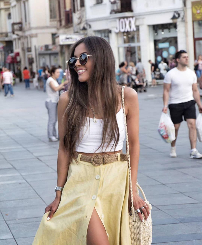jupe avec ceinture de Zara sur zara.outfits