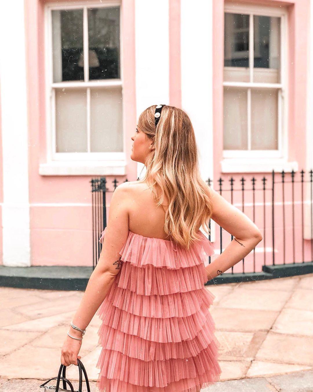 limited edition ruffled tulle dress de Zara sur im_eleonora